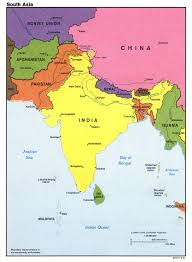 Map Of South Of France by Large Detailed Political Map Of South Asia With Major Cities And