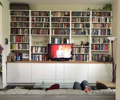 Ikea Bookshelves Built In by Ikea Hack Built In Cabinets And Bookshelves 6 Steps With Pictures