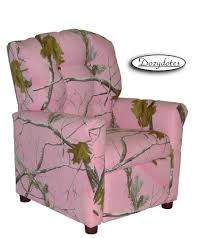 kids recliner 4 button realtree pink camo quick ship