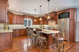 Complete Kitchen Cabinets Designing With Cherry Cabinets Brick New Jersey By Design Line
