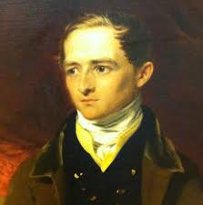 """Attributed to George Henry Harlow (English, 1787–1819), """"Sir Robert Peel,"""" date unknown. Oil on canvas, Salmon Collection. Detail of Peel's face. - harlow-peel-head"""