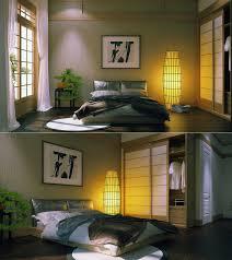 bedroom modern white painted solid wood japanese flat platform