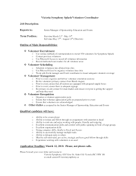 View Resume Samples by Volunteer Resume Samples Berathen Com