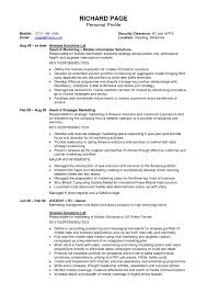 Personal Trainer Sample Resume by Resume Profile Example For College Student Templates