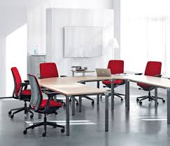 modern conference room table choosing chair for office modern office room with red chairs