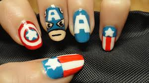 captain america nails 4th of july nails youtube