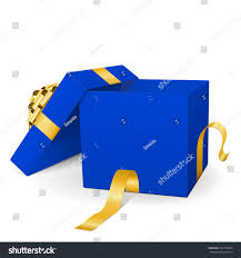 empty blue vector gift box icon stock vector 332774294 shutterstock