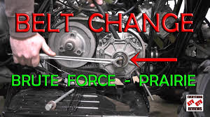 how to change belt on kawasaki brute force or prairie 360 650 700