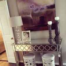 Ideas For Dining Room Table Decor by Foyer Decor With Entryway Console Table And Large Silver Mirror