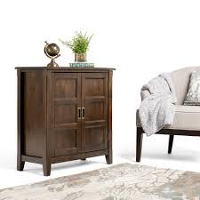 simpli home burlington espresso brown storage cabinet 3axcbur 005