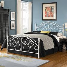 white rod iron bed home design