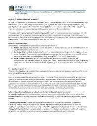 Writing A Summary For Resume Resume Objective Examples How To Write A Resume Objective