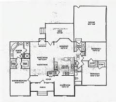 Large Open Kitchen Floor Plans by Ranch Floor Plans With Large Kitchen Voluptuo Us
