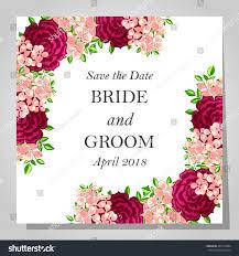 Sport Invitation Card Wedding Invitation Cards Floral Elements Stock Vector 263510384