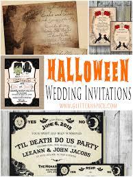 free printable halloween baby shower invitations spooktacular halloween wedding invitations glitter u0027n spice