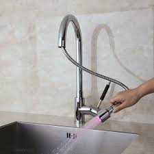 trins led kitchen faucet pull down sprayer
