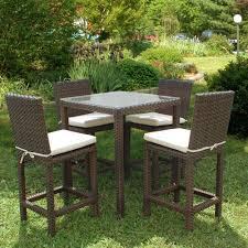 Wicker Outdoor Furniture Sets by Hampton Bay Bar Height Dining Sets Outdoor Bar Furniture The