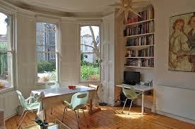 Bay Window Desk Built In Bookshelves With Desk Living Room Victorian With Knotty