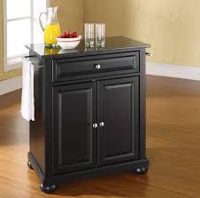 kitchen solid high portable black kitchen island with orange