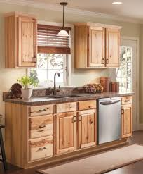 beautiful hickory cabinets for a natural looking kitchen http