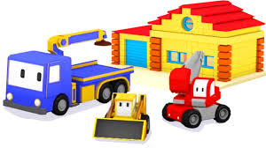 the house learn shapes colors with tiny trucks bulldozer crane