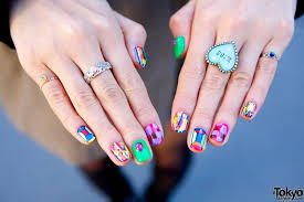 chinese nail art flowers ideas colorful fall nail art ideas