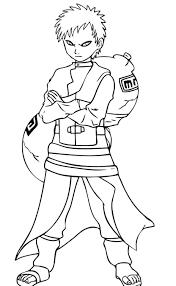 gallery of gaara of naruto coloring pages for naruto coloring