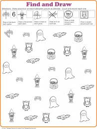 Halloween Printable Activities Find And Draw Freebie For Halloween From Http Yourtherapysource