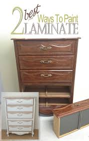 Painting Pressboard Kitchen Cabinets by 2 Best Ways To Paint Laminate Furniture Salvaged Inspirations