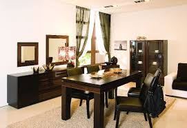 china cabinet dining room black painting table and chair combine