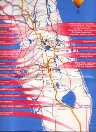 Map Of Lakeland Florida by Orange Blossom Trail Central Florida Folder Map 1955