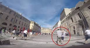 Russian hooligans throwing chairs  bottles and punches at English     Daily Mail