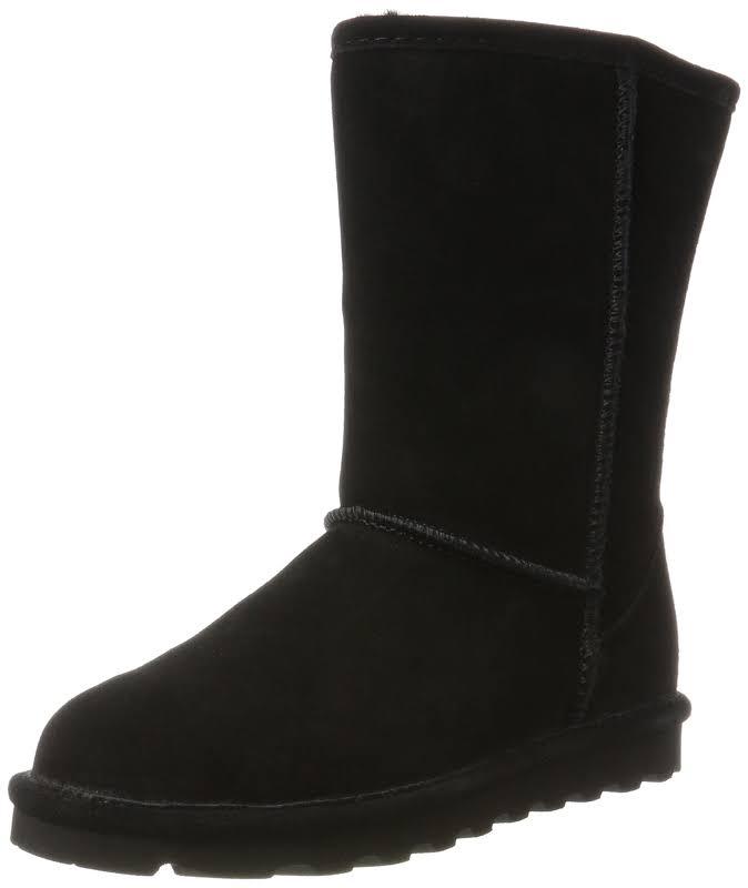 Bearpaw Elle Short Black Ii Mid-Calf Suede Over-the-Knee 10M