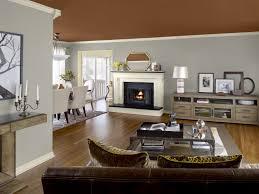 living room paint colors dining set cream leather sofa artwork