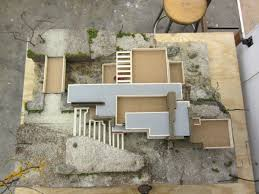 casa sulla cascata frank lloyd wright 2d dwg architettura