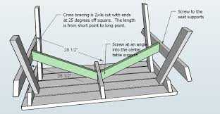 Building Plans For Picnic Table Bench by Ana White How To Build An Picnic Table Diy Projects