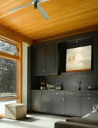 kitchen black color with kitchen cabinet also brass finish