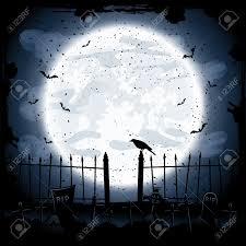 spooky halloween background free scary halloween night background crow in the cemetery