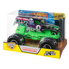 monster trucks cool video wheels monster jam 1 24 grave digger die cast vehicle