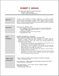Resume Samples Of Software Engineer by Resume Objective Help Model Resume Objective Examples For Resume