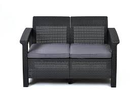 Where To Buy Patio Cushions by Amazon Com Keter Corfu Love Seat All Weather Outdoor Patio