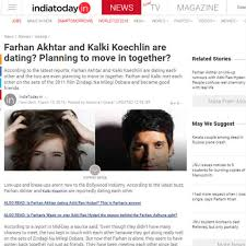 Farhan Akhtar  amp  Kalki Koechlin dating  Planning to move in     India com