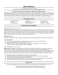 Maintenance Technician Resume Sample by Apartment Maintenance Resume Technician Sample Optician Research