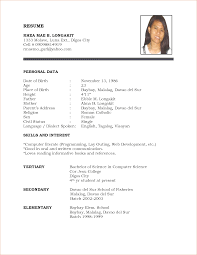 Student Resumes For First Job by Student Resume Format 13 Resume Format Examples For Students