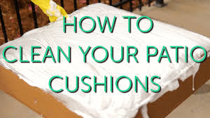 How To Clean Outdoor Patio Furniture by How To Clean Your Outdoor Cushions Patio Repair U0026 Maintenance