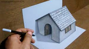 trick art drawing 3d tiny house on paper youtube