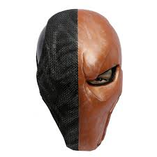 deathstroke halloween costumes amazon com supervillain costume mask helmet cosplay accessories
