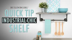 diy quick tip how to build an industrial chic pipe shelf youtube
