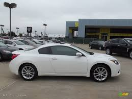 nissan altima coupe in snow 2012 winter frost white nissan altima 3 5 sr coupe 71852956 photo