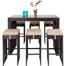 Best Wicker Patio Furniture Best Choice Products 7pc Rattan Wicker Bar Dining Table Patio